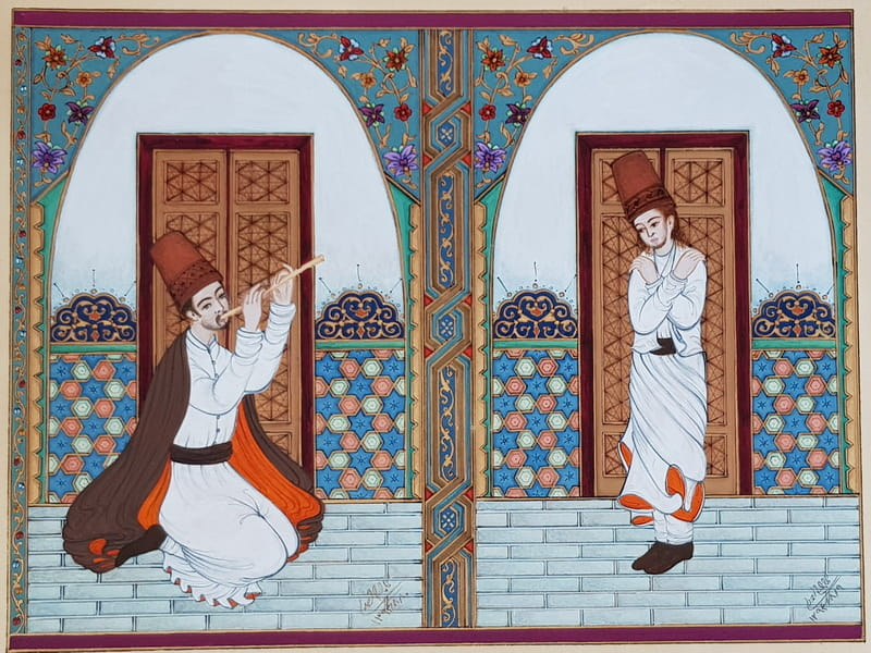 Dervish Performs With A Reed Player