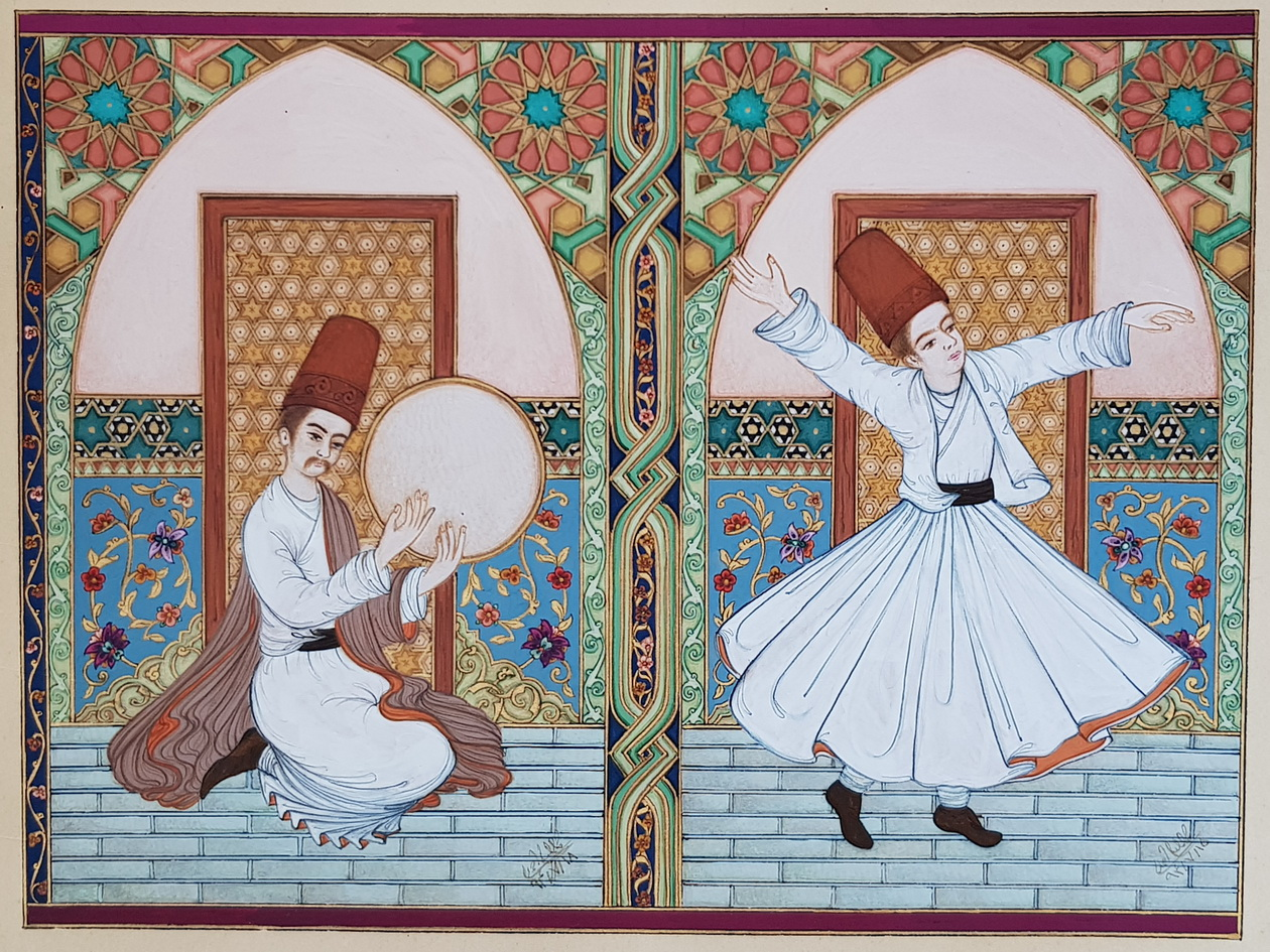Tambourine Player and Dervish