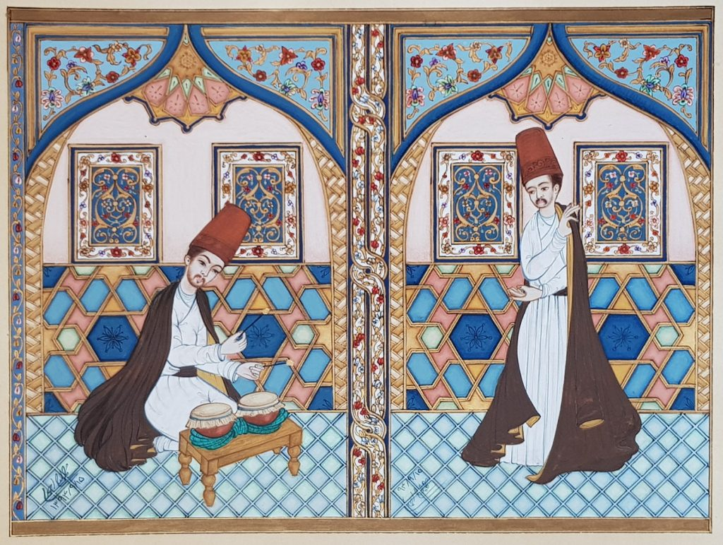 Dervish Performs With a Drummer